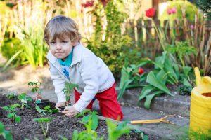Kids love to garden