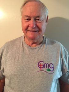 God's Miracle Garden T-Shirt Gray front logo